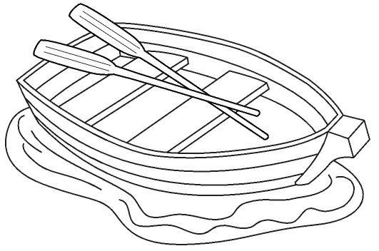 Line Art Boat : Colorear dibujos de barcas