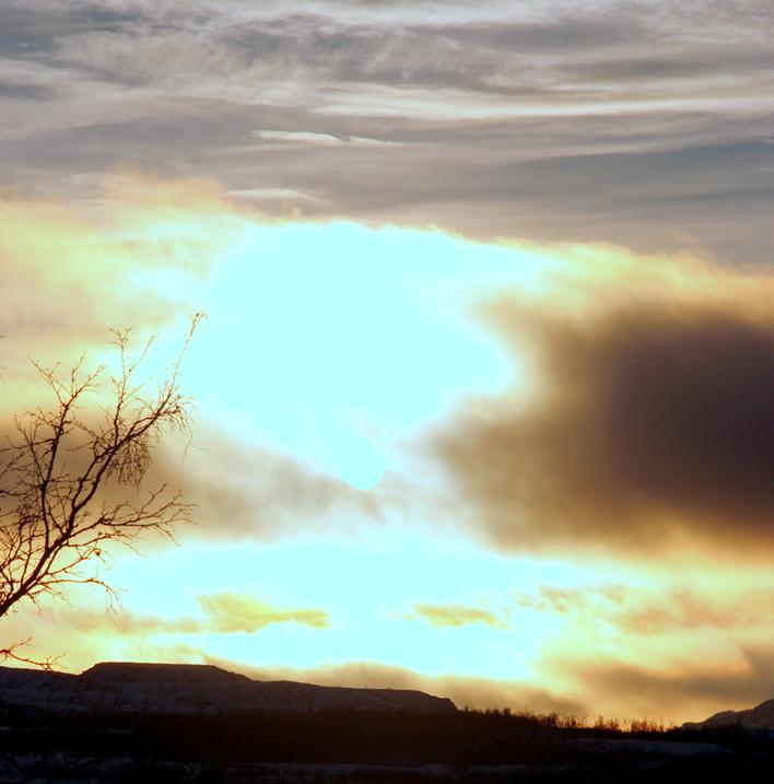 soluppgång i norr