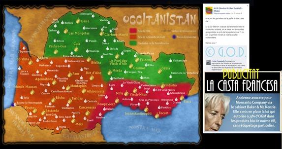Vertadièra mapa d'Occitània