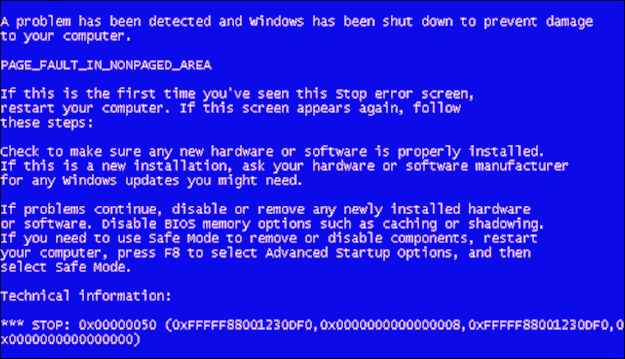 PVS Target Blue Screen of Death: 0x0000050 [Resolved]