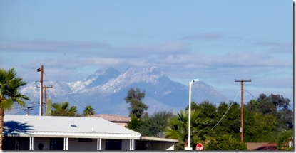 Four Peaks got snow.