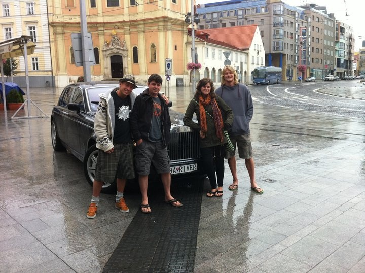 Bratislava and hotel's Rolls-Royce service