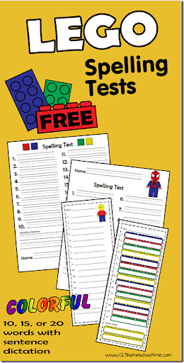 FREE Spelling Test Template _ 10 | 15 | 20 | 30 WORD LISTS | BONUS ...