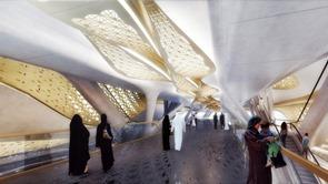 Estación de metro arquitectura high tech-