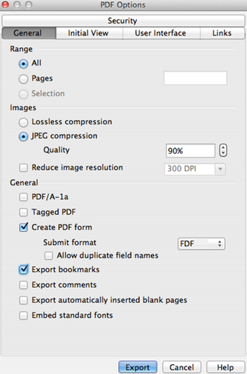 14 Export PDF Options