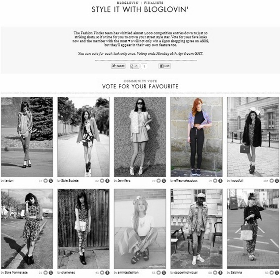 ASOS BLOGLOVIN COMP