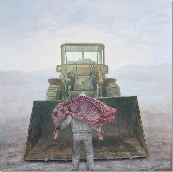 Hombre de su casa 100x100 óleo sobre tela 2011