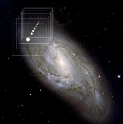 estrela hiperveloz escapando da galáxia