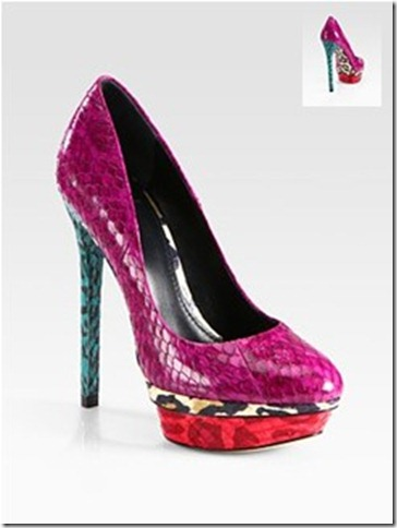 B Brian Atwood Fontanne snakeskin leopard pumps