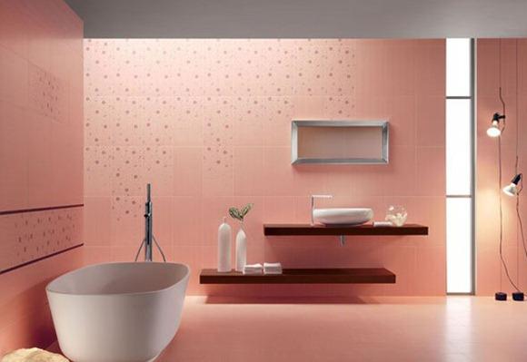Cortinas De Baño Rosa: de baño de color rosa es muy eficaz para llegar a un baño de lujo