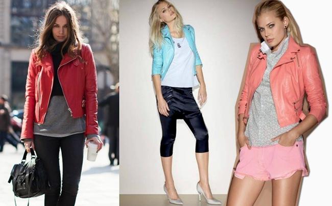 Moda em couro: Jaquetas femininas coloridas – Confira 5 sugestões de compras.