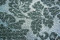 Tkanina meblowa z metalicznym efektem w kwiaty. Srebrna.