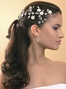 penteado noiva com tiara