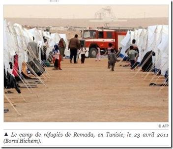 remada camp réfugiés libyens