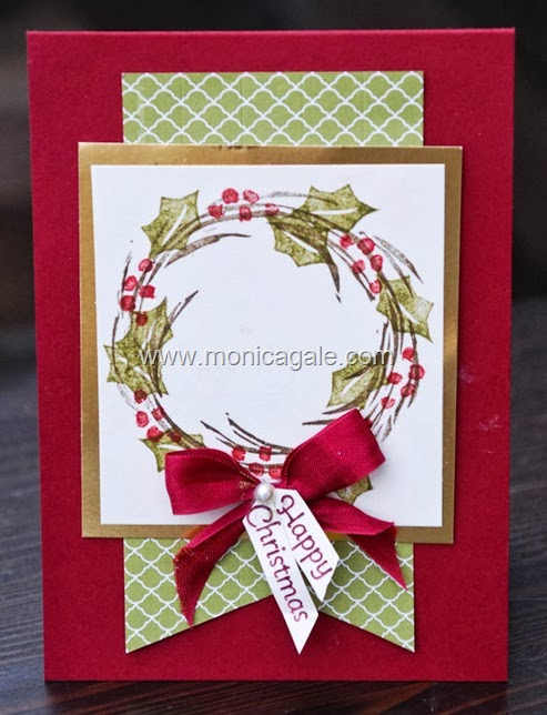 Stampin'Up! Undefined Wreath carved by Monica Gale_