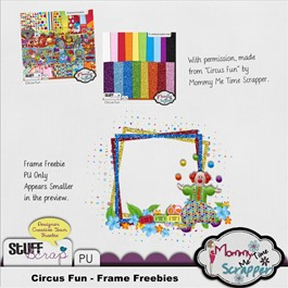 Mommy Me Time Scrapper - Circus Fun - Frame Freebie