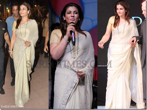 Raveena_Tandon_Saree
