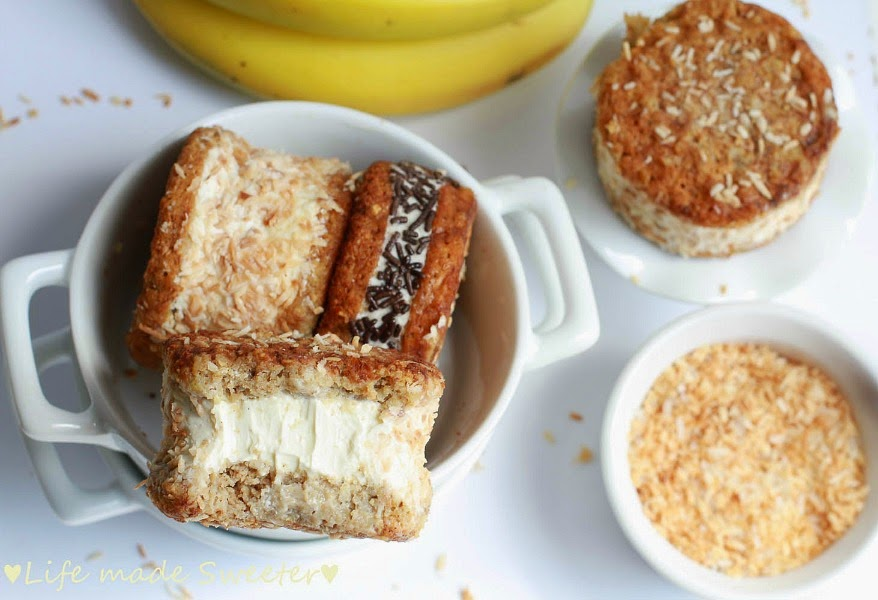 Toasted Coconut Banana Bread Ice Cream Sandwiches 3 - Life Made ...