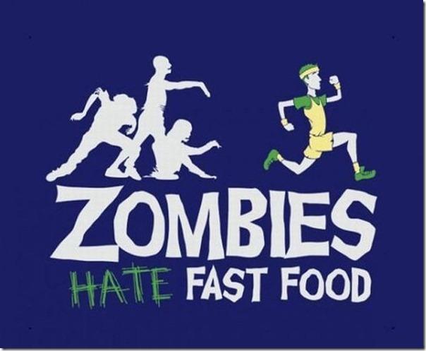 Zumbis odeiam Fast Food