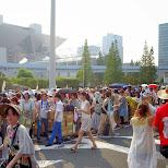 people sending back their packages at Comiket 84 - Tokyo Big Sight in Japan in Tokyo, Tokyo, Japan