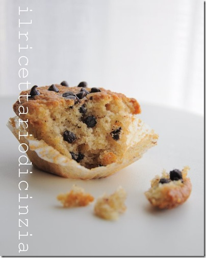 muffin con gocce di cioccolato soffici