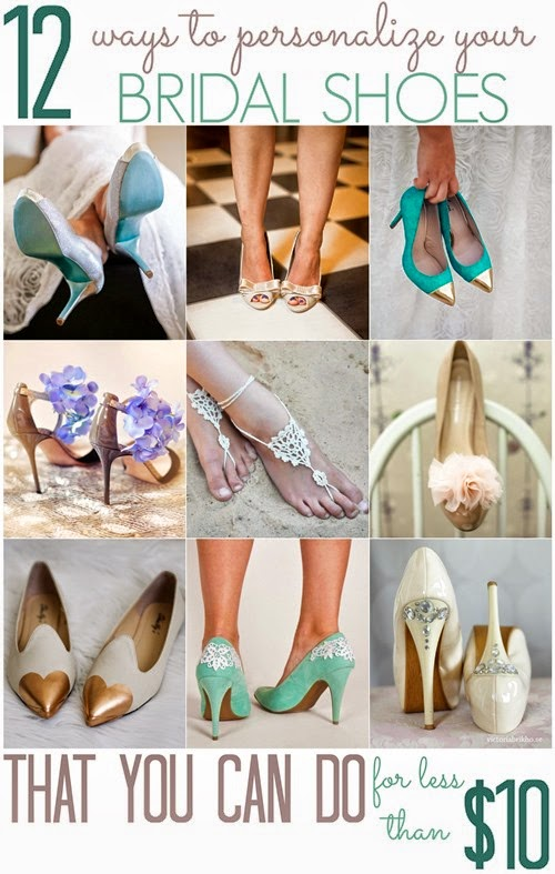 12 Ways to Personalize Your Wedding Shoes (for less than $10!)
