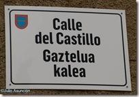 Cartel de la calle de Castillo - Muez