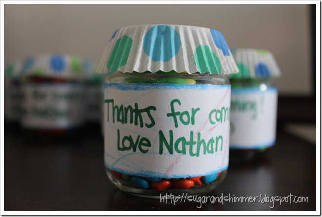Baby Food Jar Favours