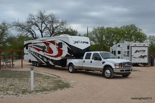 Leaving North Llano River RV Park