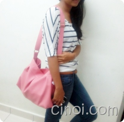 bubblegum pink handmade bag