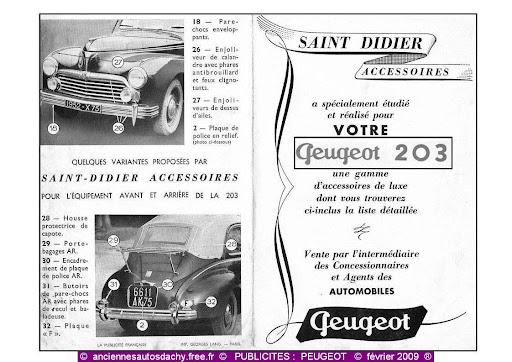 Publicité Peugeot 203