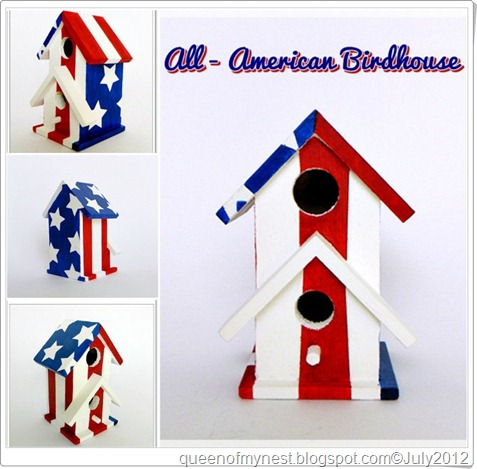 All American Birdhouse Collage 4 frame