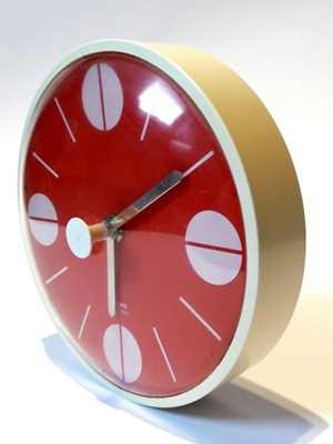 red Krups wall clock