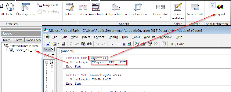 vba code to save a pdf in inventor