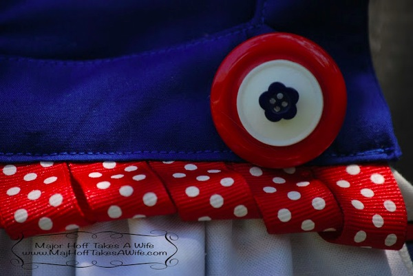 closeup ribbon USA polkadot
