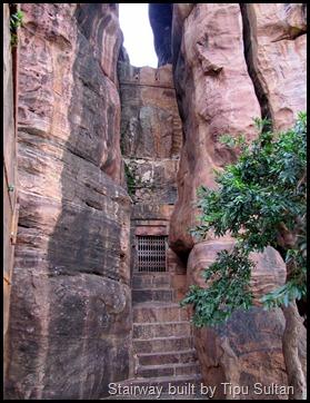 Stairway built by Tipu Sultan