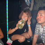 heavy drinking at star fire in Ginza, Tokyo, Japan