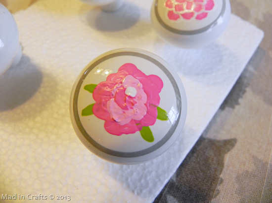 hand-painted drawer pull