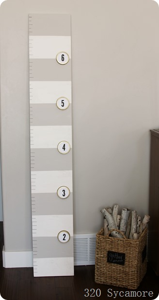 growth chart with canning lids