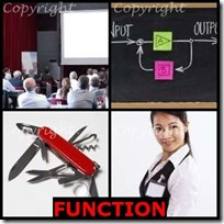 FUNCTION- 4 Pics 1 Word Answers 3 Letters