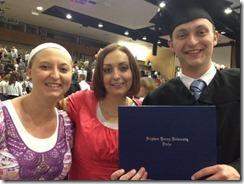 Three grads