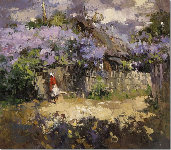 The lilac in the village