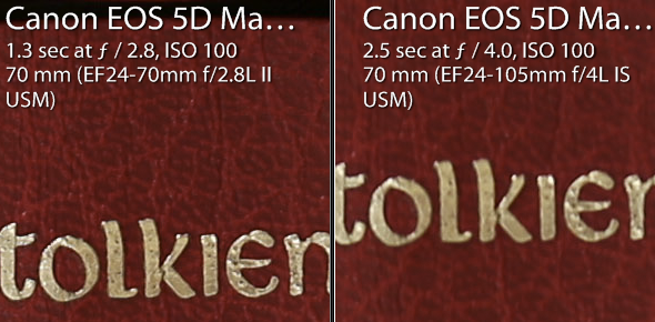 24-70 f/2.8L II @ f/2.8 (left) and 24-105mm @ f/4 (right)