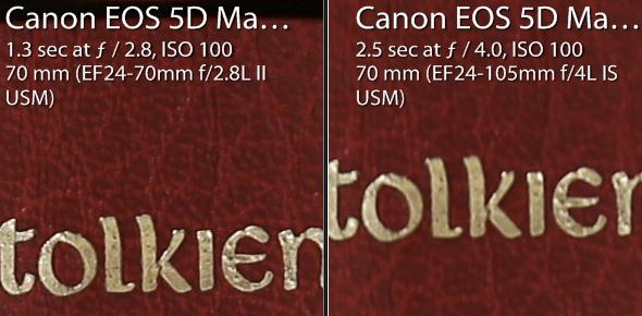 24-70 f/2.8L II @ f/2.8 (left) and 24-105mm @ f/4 (right)