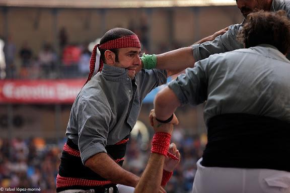 Castellers de Sants, 3 de 9 amb folre.XXIIIe Concurs de Castells a Tarragona.Tarraco Arena Placa (antiga placa de braus).Tarragona, Tarragones, Tarragona