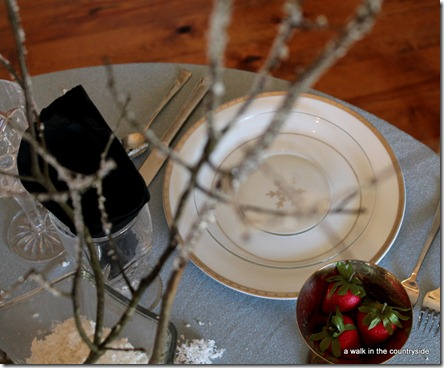 winter ice tablescape