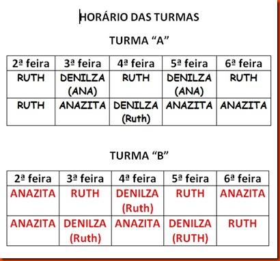 HORÁRIO DO CURSO NO AEE