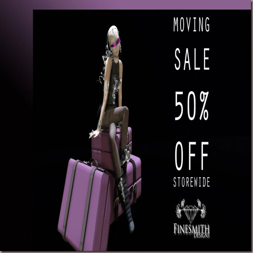 FINESMITH DESIGNS MOVING SALE POSTER