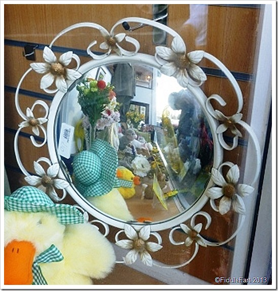 Kitsh charity shop mirror