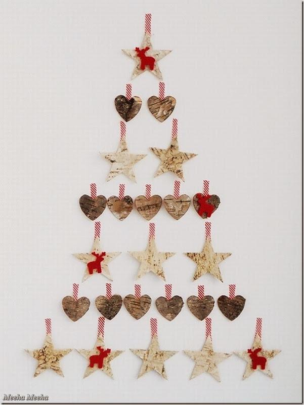 case e interni - decorazioni natalizie fai da te - diy - albero alternativo